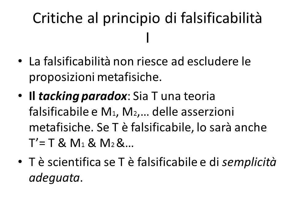 Critiche al principio di falsificabilità I