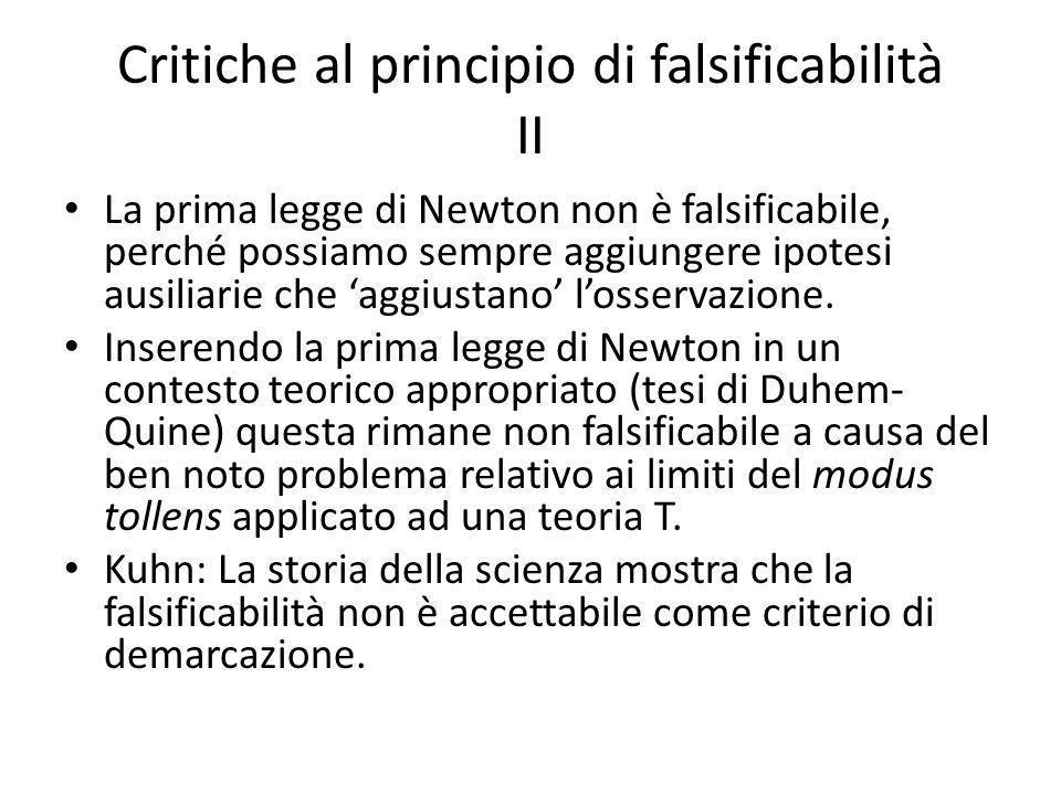 Critiche al principio di falsificabilità II