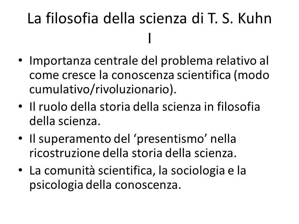La filosofia della scienza di T. S. Kuhn I