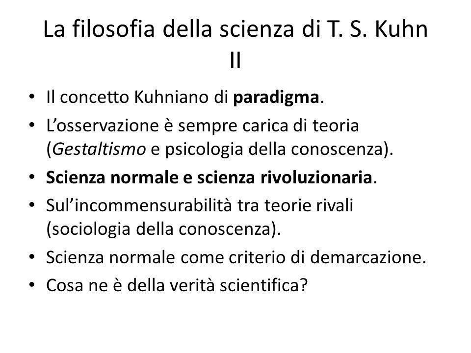 La filosofia della scienza di T. S. Kuhn II