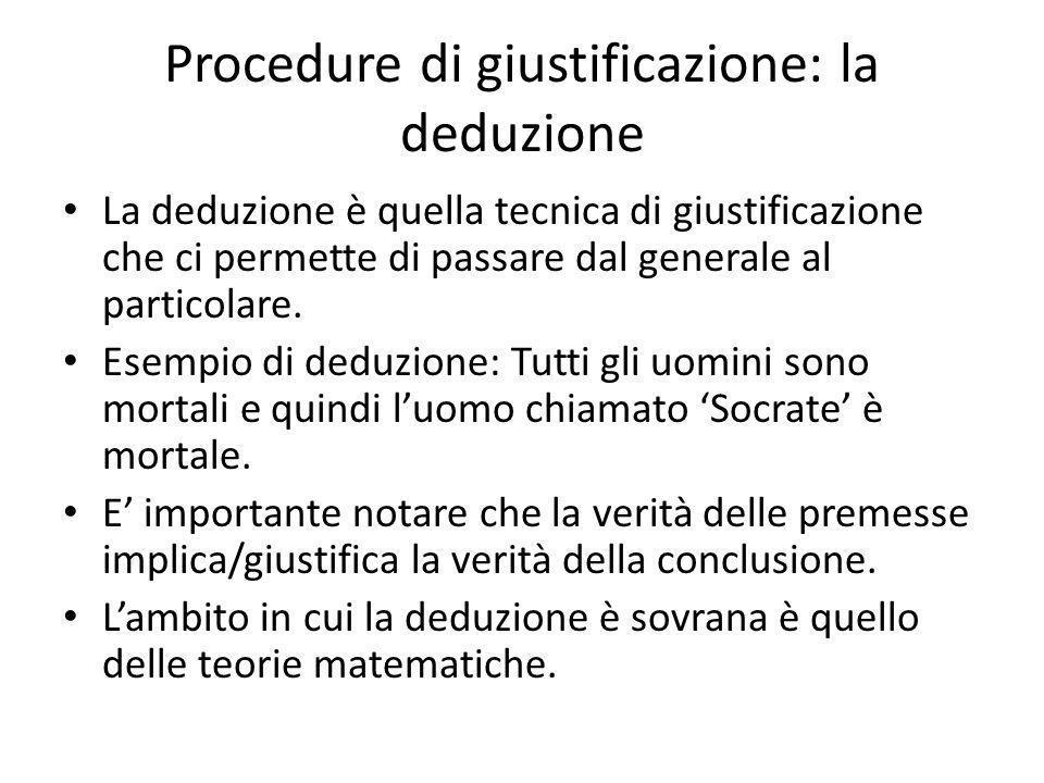 Procedure di giustificazione: la deduzione