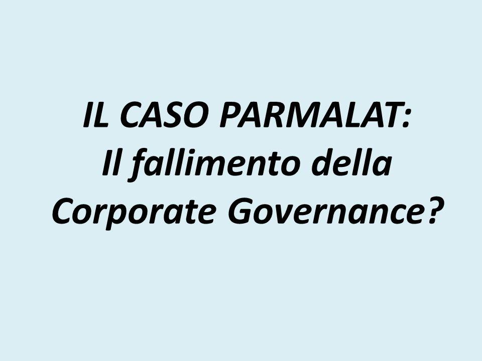 IL CASO PARMALAT: Il fallimento della Corporate Governance