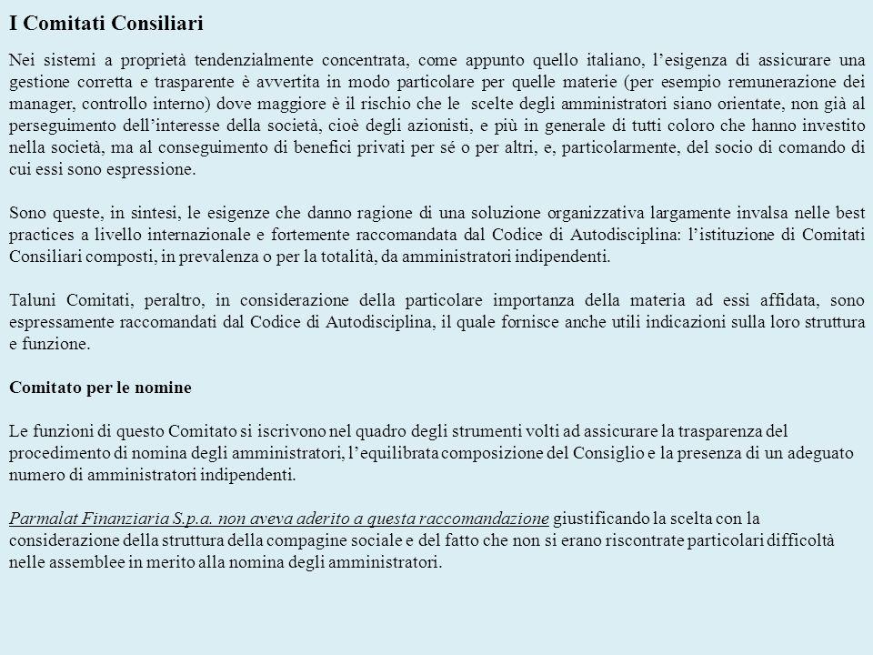 I Comitati Consiliari