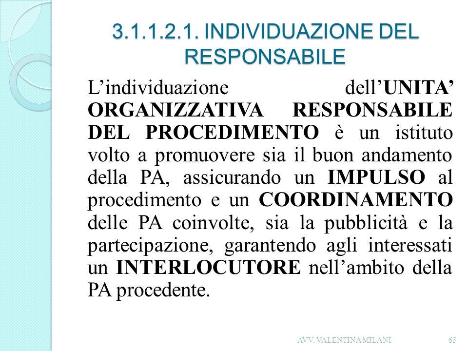 3.1.1.2.1. INDIVIDUAZIONE DEL RESPONSABILE