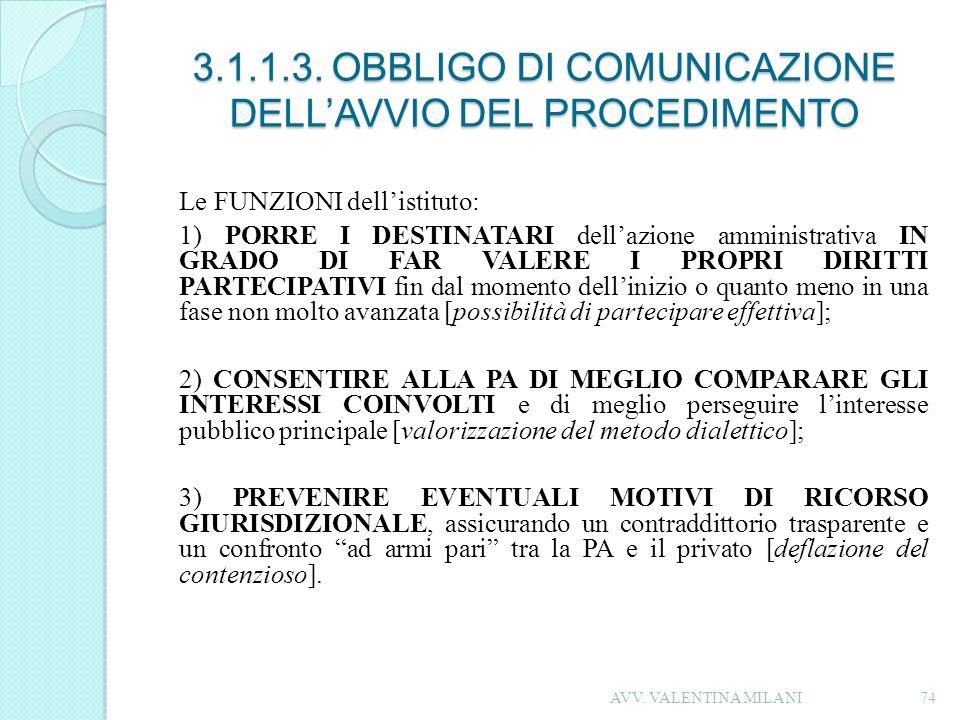 3.1.1.3. OBBLIGO DI COMUNICAZIONE DELL'AVVIO DEL PROCEDIMENTO