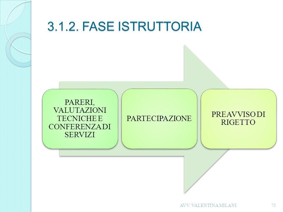 PARERI, VALUTAZIONI TECNICHE E CONFERENZA DI SERVIZI