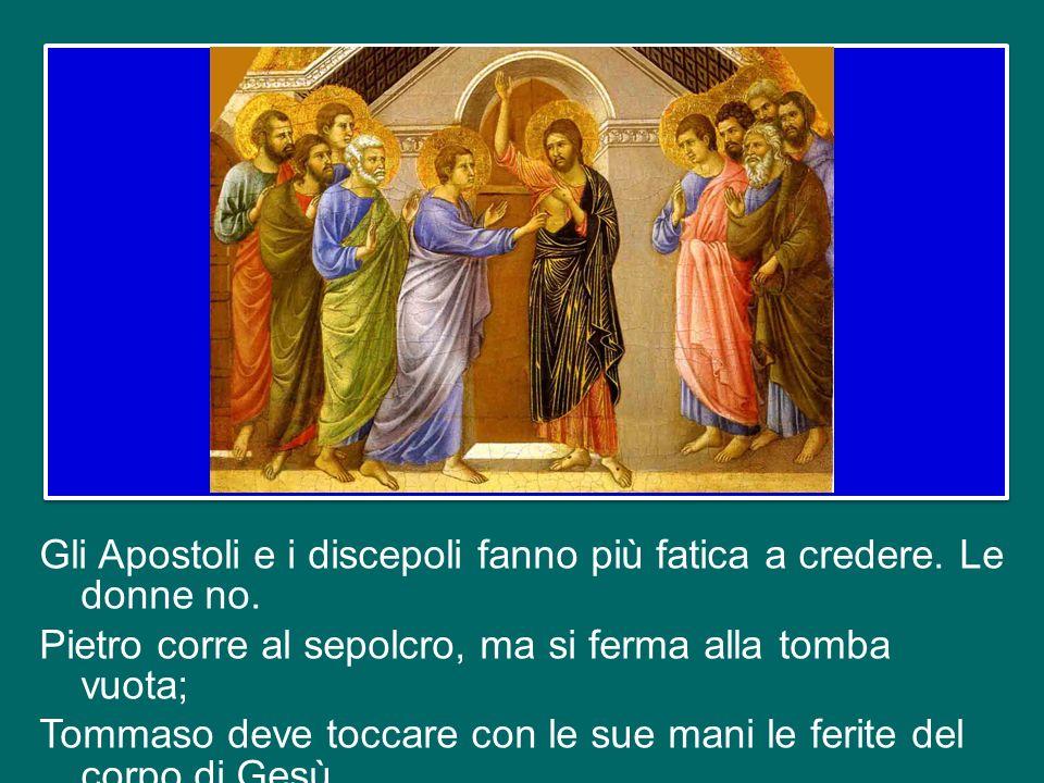 Gli Apostoli e i discepoli fanno più fatica a credere. Le donne no