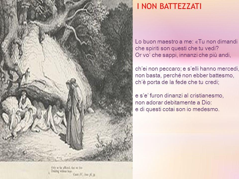 I NON BATTEZZATI