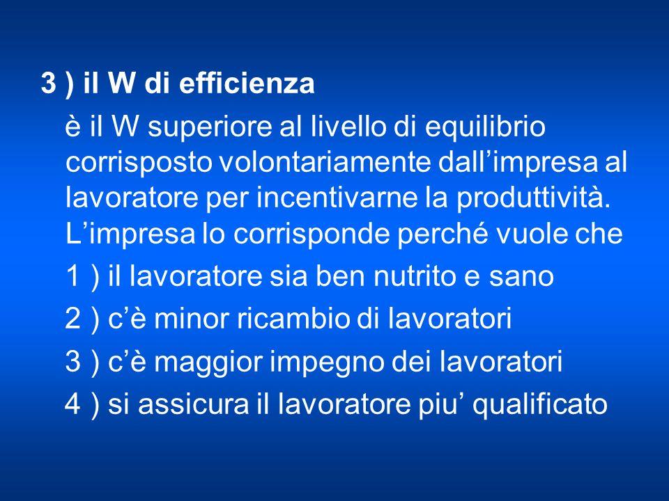 3 ) il W di efficienza