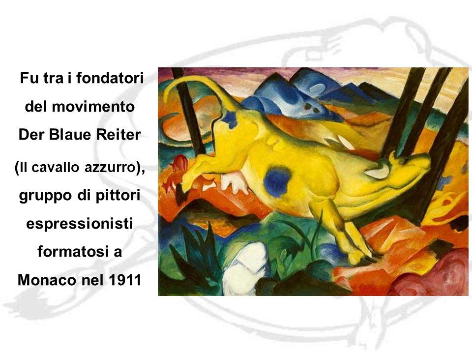 Fu tra i fondatori del movimento Der Blaue Reiter