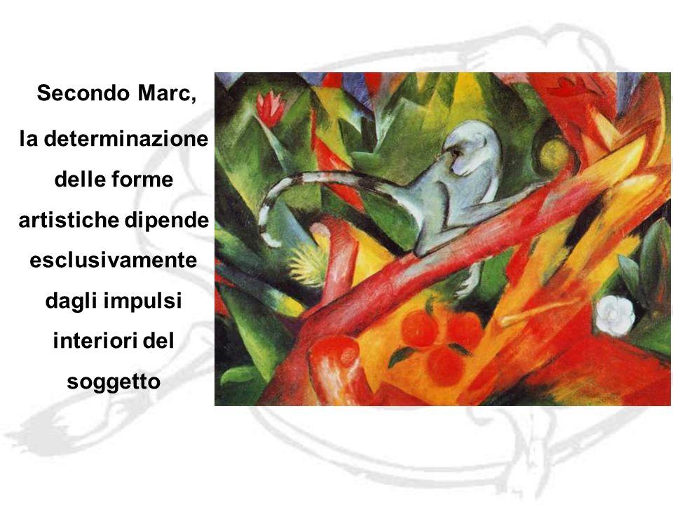 Secondo Marc, la determinazione delle forme artistiche dipende esclusivamente dagli impulsi interiori del soggetto.