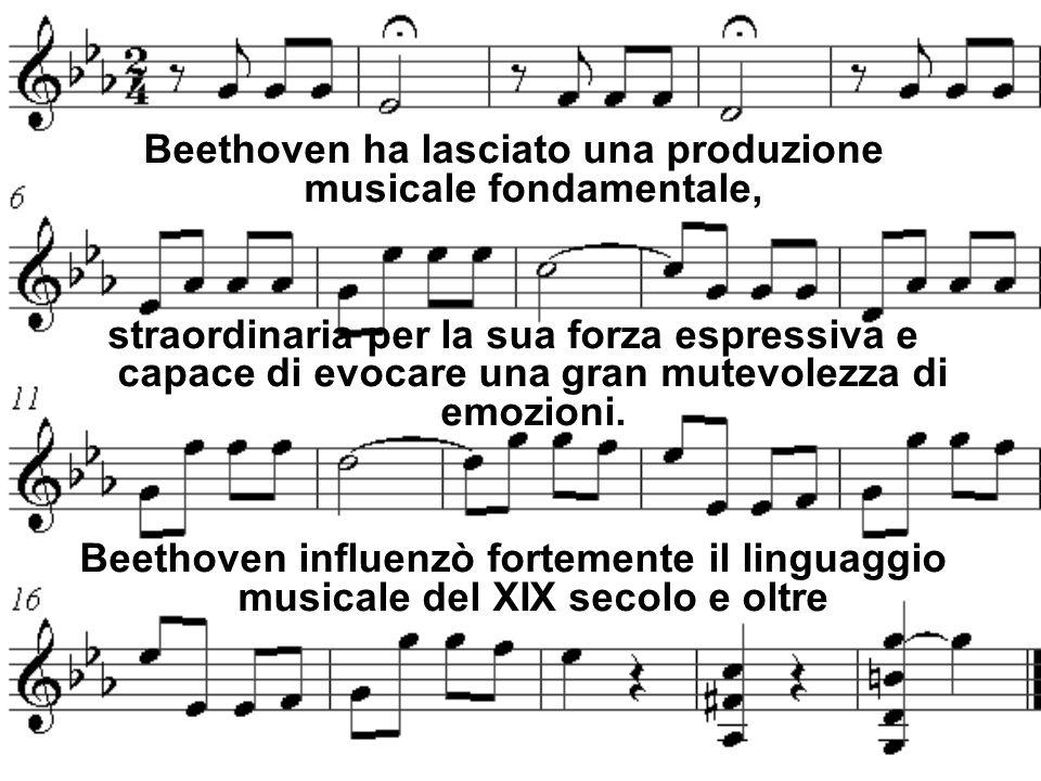 Beethoven ha lasciato una produzione musicale fondamentale,