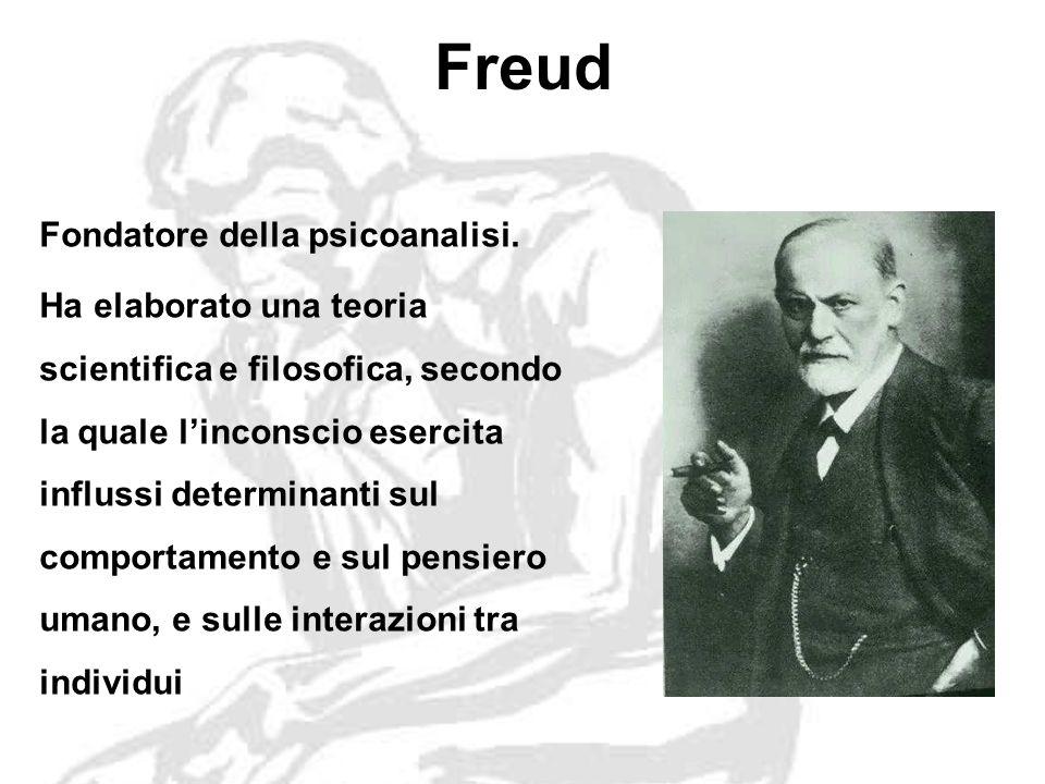 Freud Fondatore della psicoanalisi.
