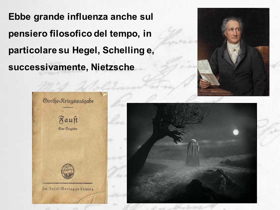Ebbe grande influenza anche sul pensiero filosofico del tempo, in particolare su Hegel, Schelling e, successivamente, Nietzsche
