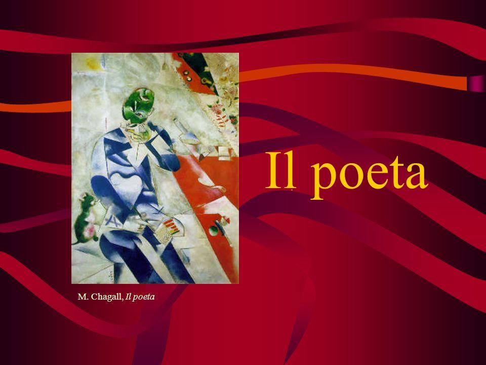 Il poeta M. Chagall, Il poeta Chi è il poeta Cos'è la poesia