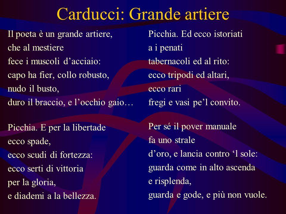 Carducci: Grande artiere