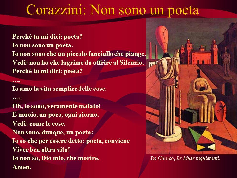 Corazzini: Non sono un poeta