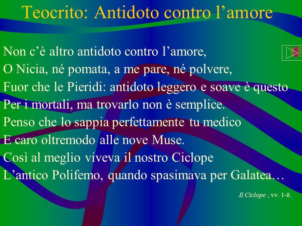 Teocrito: Antidoto contro l'amore
