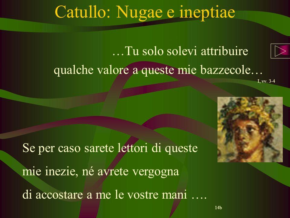 Catullo: Nugae e ineptiae