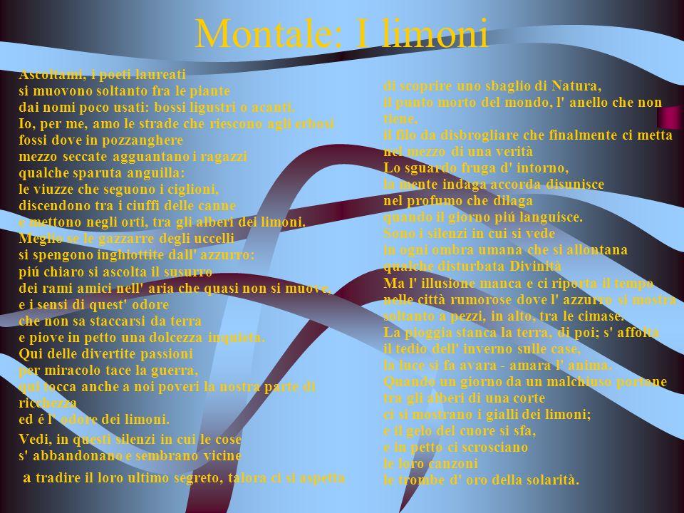 Montale: I limoni