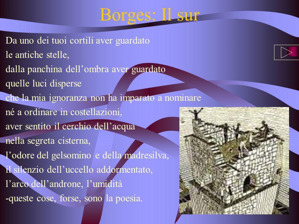 Borges: Il sur Da uno dei tuoi cortili aver guardato