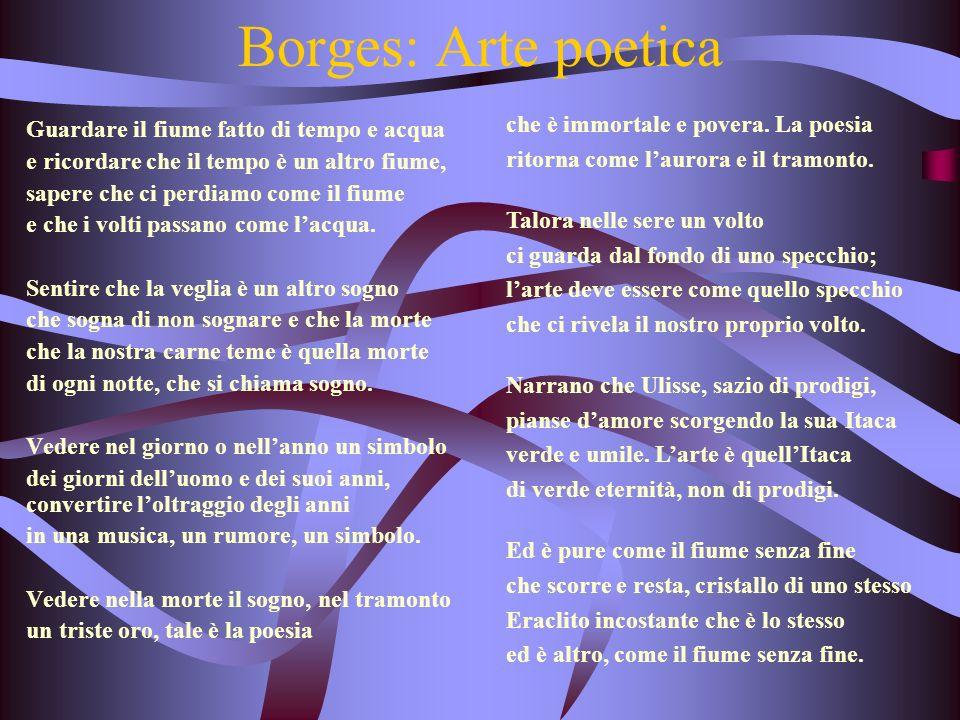 Borges: Arte poetica che è immortale e povera. La poesia
