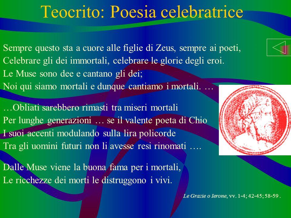 Teocrito: Poesia celebratrice