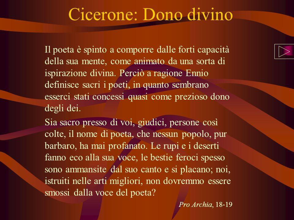 Cicerone: Dono divino