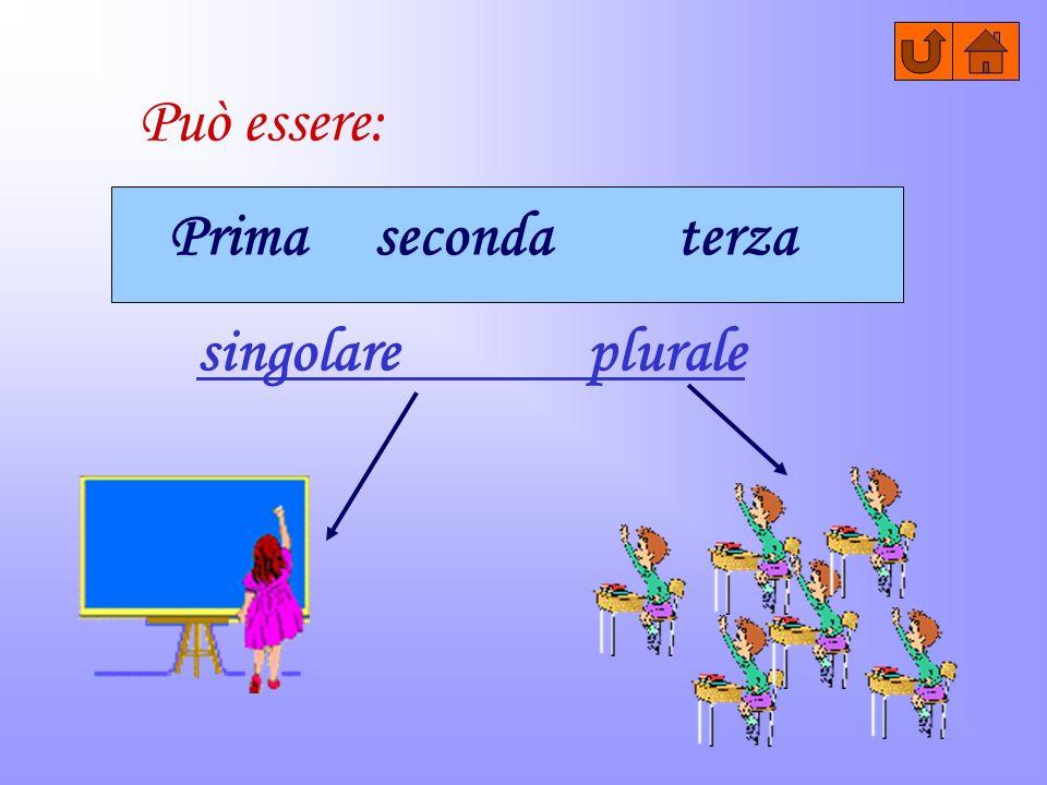 Può essere: Prima seconda terza singolare plurale