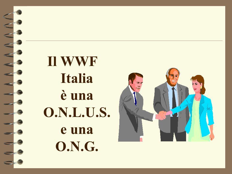 Il WWF Italia è una O.N.L.U.S. e una O.N.G.
