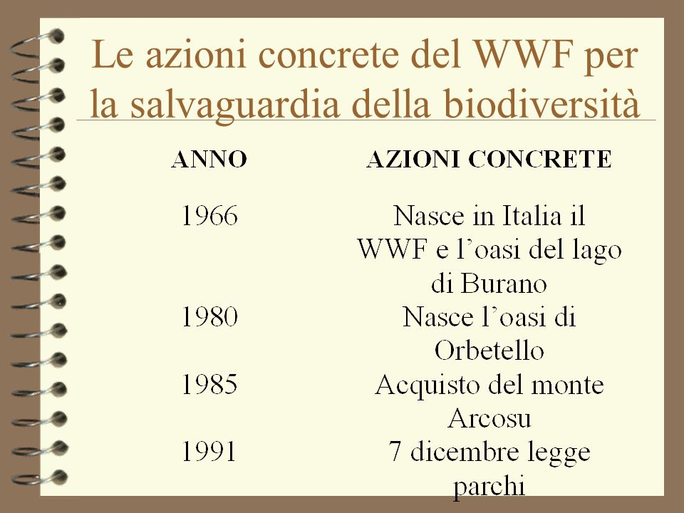 Le azioni concrete del WWF per la salvaguardia della biodiversità
