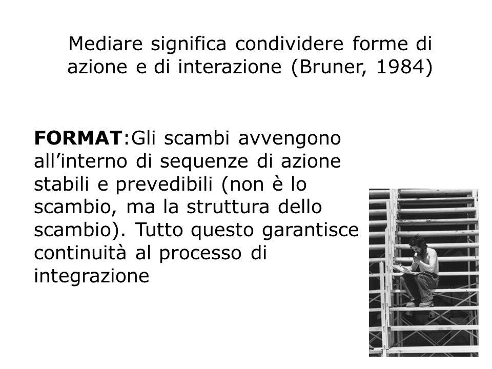 Mediare significa condividere forme di azione e di interazione (Bruner, 1984)
