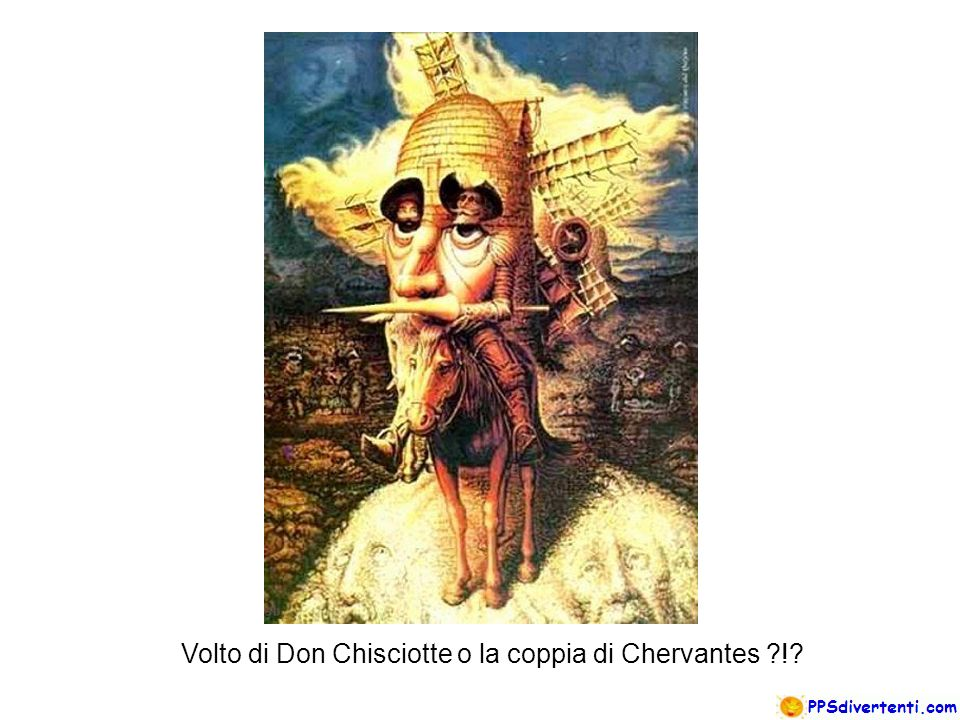 Volto di Don Chisciotte o la coppia di Chervantes !