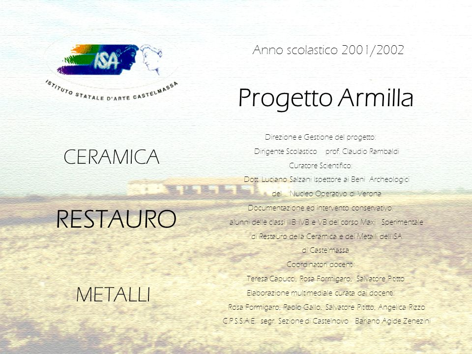 Progetto Armilla RESTAURO