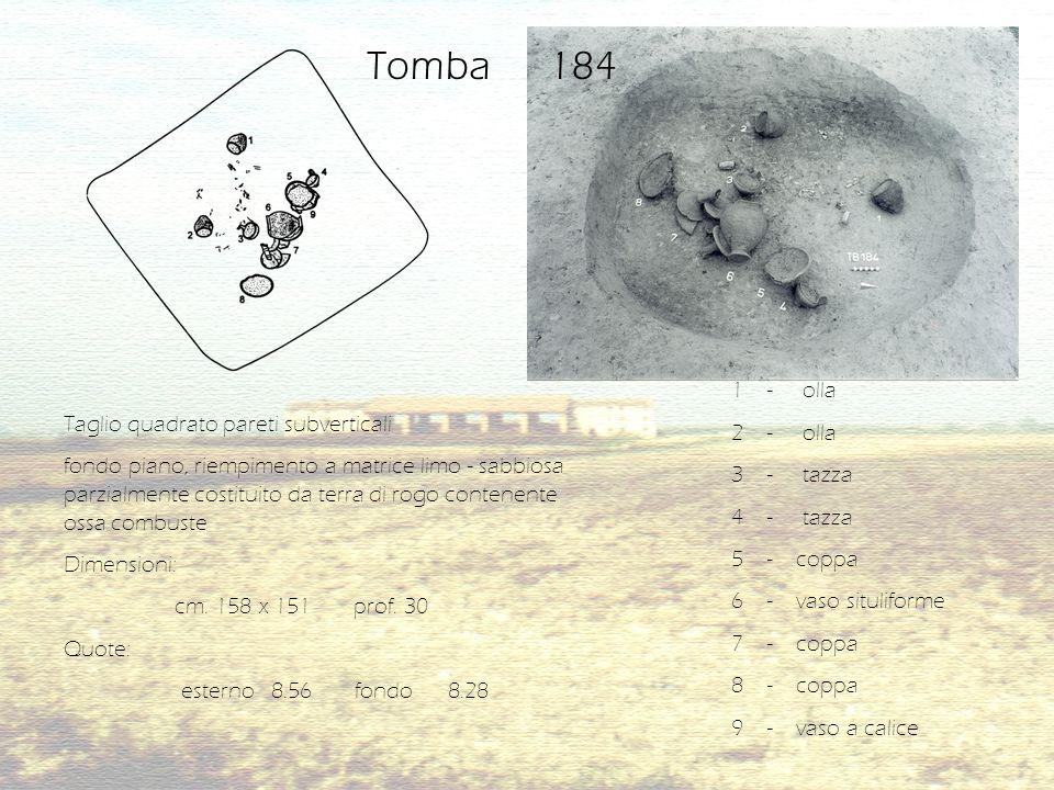 Tomba 184 1 - olla 2 - olla 3 - tazza