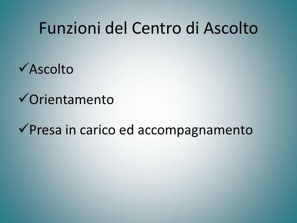 Funzioni del Centro di Ascolto
