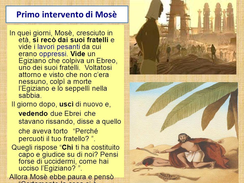 Primo intervento di Mosè