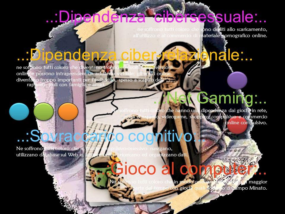 ..:Gioco al computer:.. ..:Dipendenza cibersessuale:..