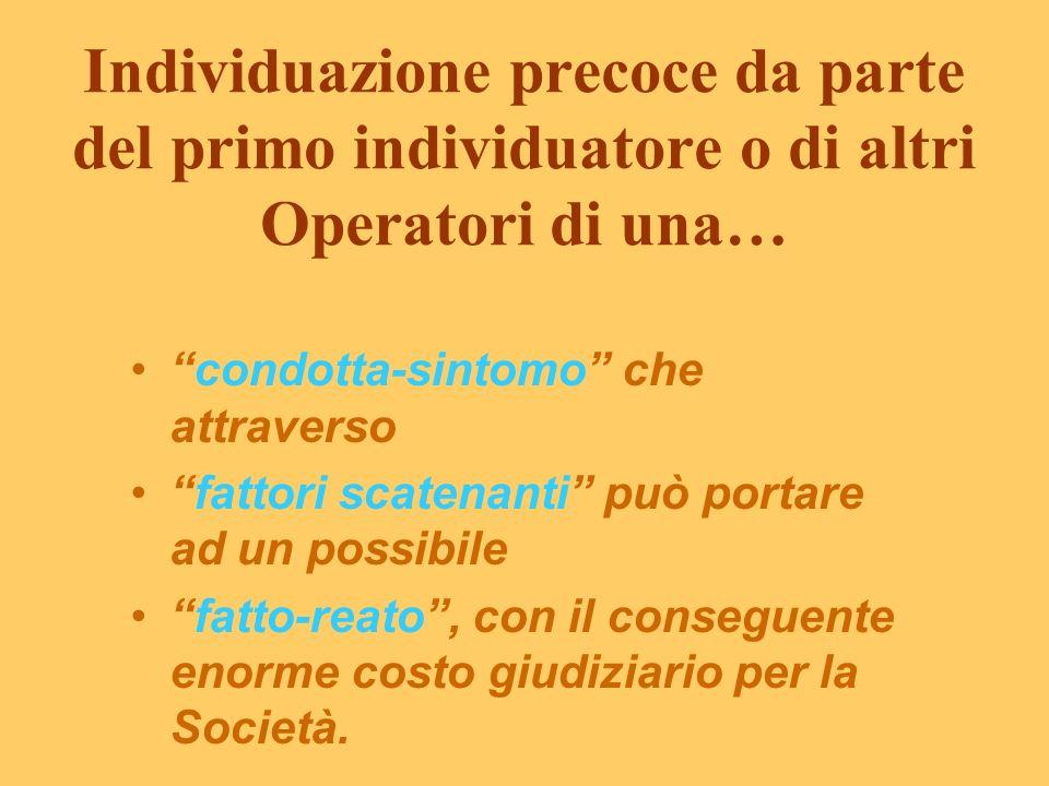 Individuazione precoce da parte del primo individuatore o di altri Operatori di una…