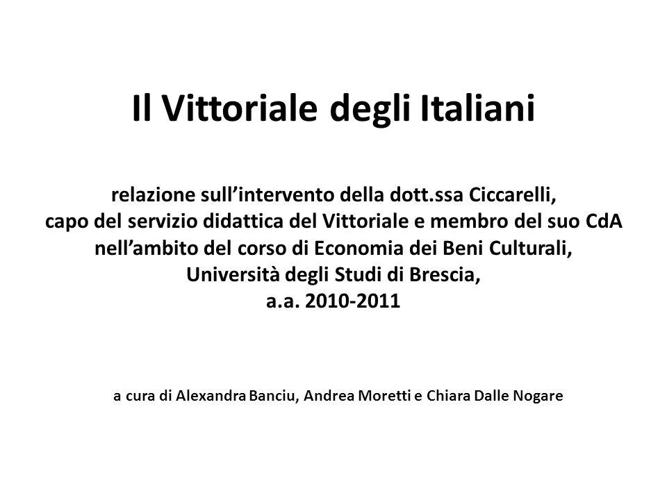 Il Vittoriale degli Italiani relazione sull'intervento della dott