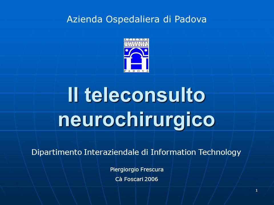 Il teleconsulto neurochirurgico