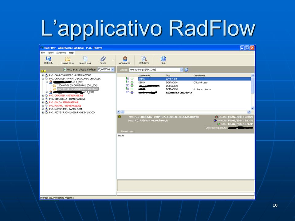 L'applicativo RadFlow