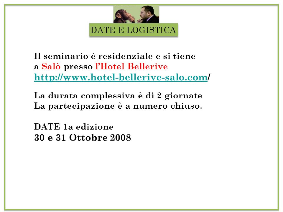 http://www.hotel-bellerive-salo.com/ 30 e 31 Ottobre 2008
