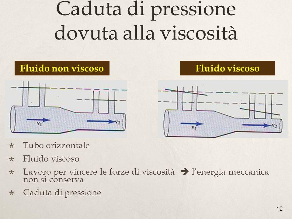 Caduta di pressione dovuta alla viscosità