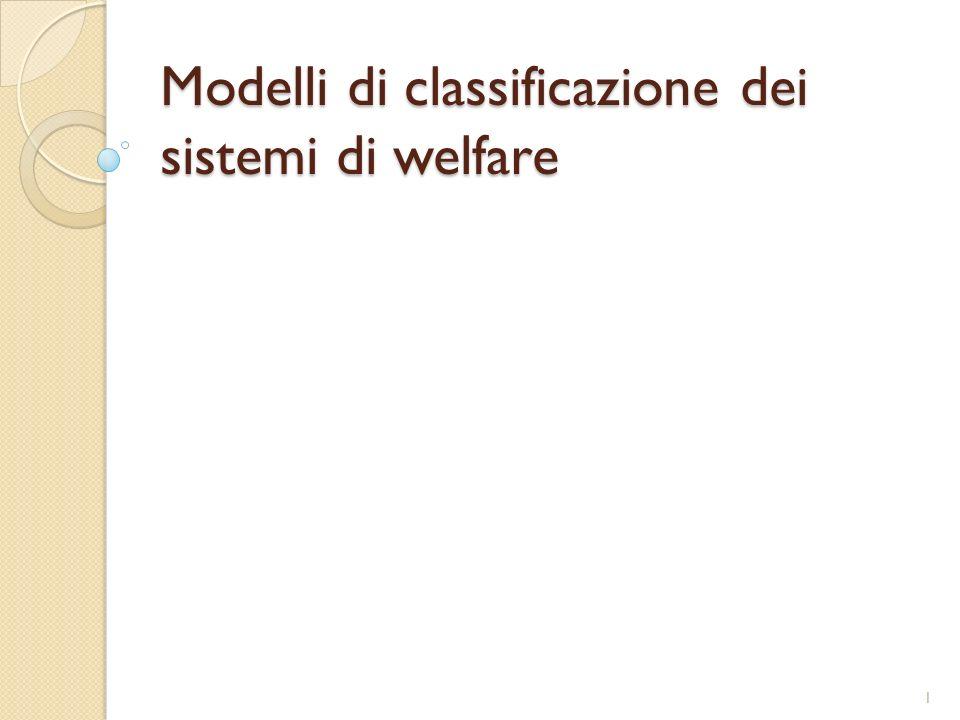 Modelli di classificazione dei sistemi di welfare
