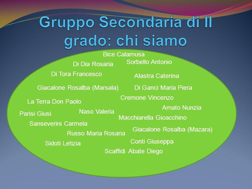 Gruppo Secondaria di II grado: chi siamo