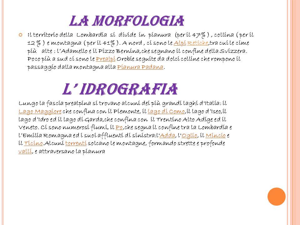 L' IDROGRAFIA LA MORFOLOGIA