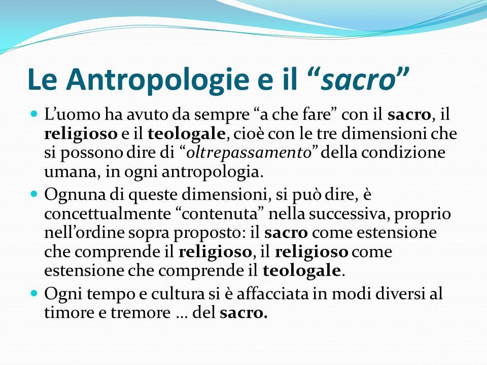 Le Antropologie e il sacro