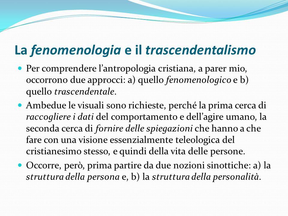 La fenomenologia e il trascendentalismo