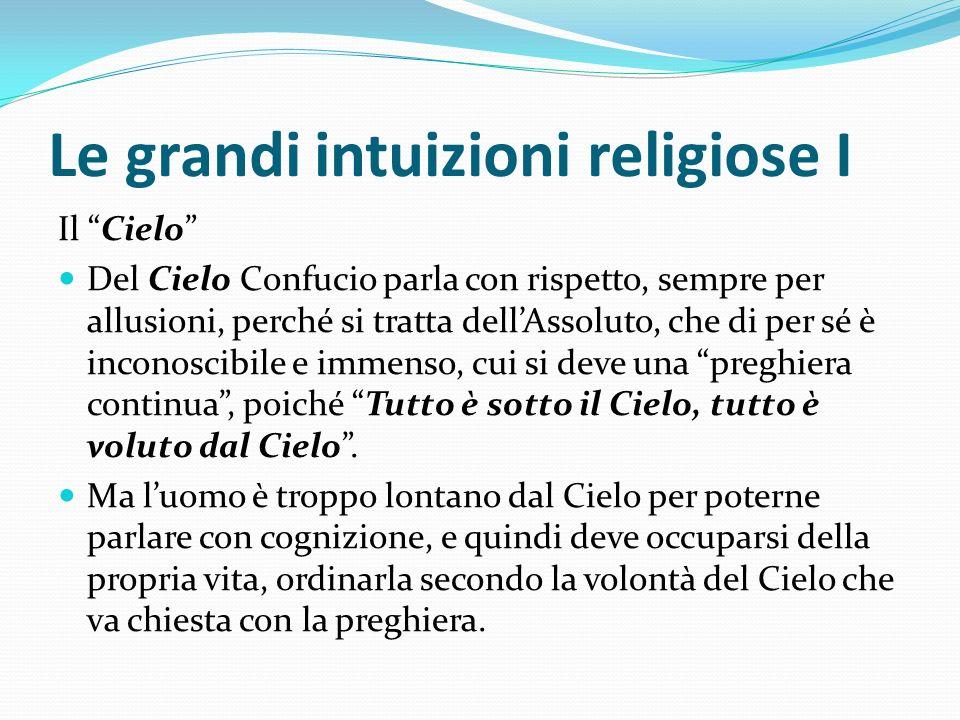 Le grandi intuizioni religiose I